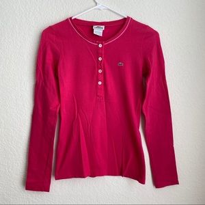 Lacoste | Long Sleeve Top in Pink